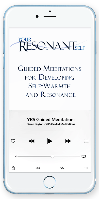 Cell phone with Your Resonant Self Guided Meditations Audio Book