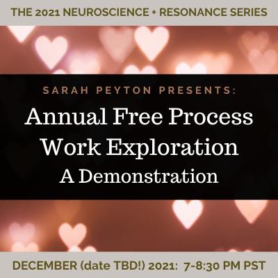 FREE: Sarah's 2021 Process Work Exploration