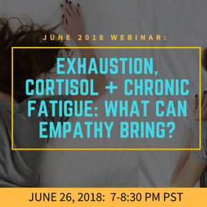 Exhaustion, Cortisol, Chronic Fatigue and the Hypothalamus: what can Empathy Bring?