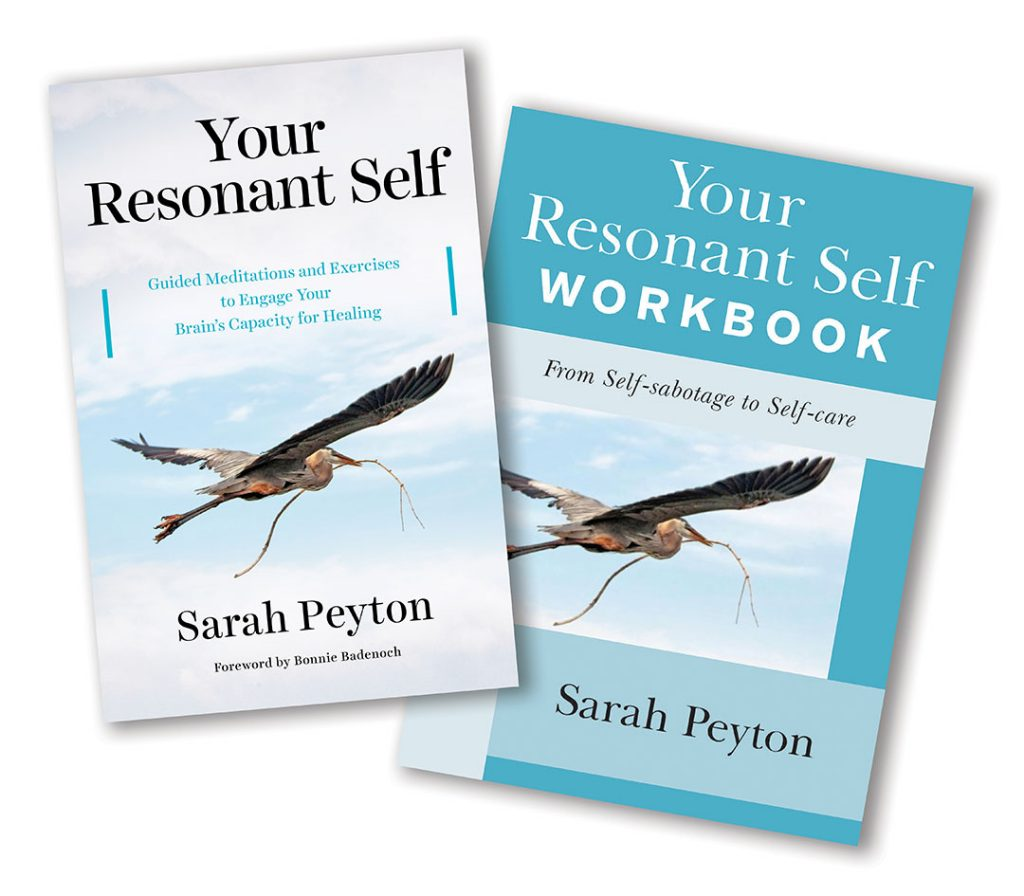 Sarah Peyton's two books Your Resonant Self and Your Resonant Self Workbook