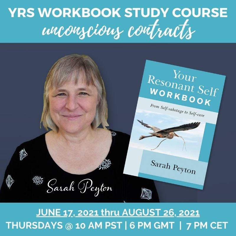 sRAH PEYTON WITH YOUR RESONANT SELF WORKBOOK