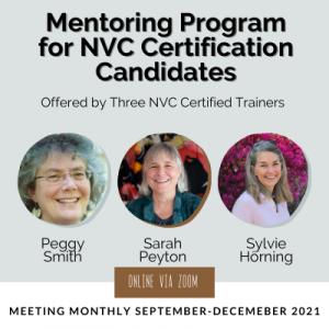 Mentoring program for NVC Certification Candidates – Final Quarter, 2021